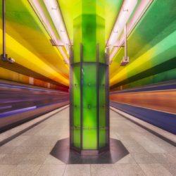colorful metro scene